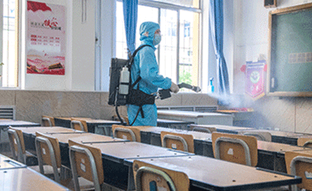 Schools Ready for Reopening after Conducting Electrostatic Disinfection